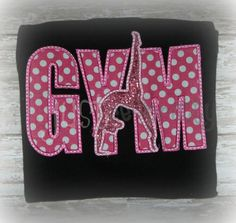 Gym Silhouette Applique