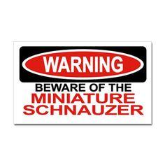 MINIATURE SCHNAUZER Sticker (Rectangular)
