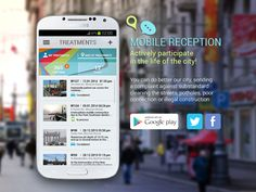 Mobile Reception Landing Page by Cybervein