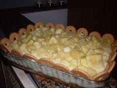 Receita de Torta de biscoitos com abacaxi