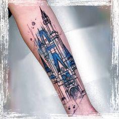 Russell Van Schaick Tattoos — Doodles . . . . . . #disney #disneytattoo... Disney Watercolor Tattoo, Watercolor Tattoo Artists, Watercolor Art, Tattoo Spirit, Disney Tattoos, Doodles, Van, Instagram, Design