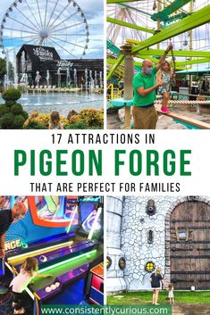 Pigeon Forge is a top family destination. Discover these top 17 attractions that are perfect for all family members. #pigeonforge #pigeonforgetn #attractionsinpigeonforge #tennesseetravel Family World, All Family, Travel With Kids, Family Travel, Group Travel, Road Trip Theme, Usa Places To Visit, Family Vacation Destinations, Family Road Trips
