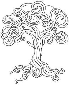 Whimsical Tree Coloring Pages