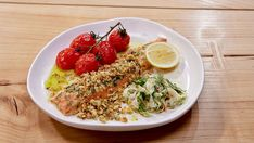 Walnut Pangratatto Trout, Roasted Tomatoes And Fennel Salad Fish Dishes, Seafood Dishes, Fish And Seafood, Seafood Recipes, Baked Trout, Masterchef Recipes, Easy To Cook Meals, Fennel Salad, Roasted Tomatoes