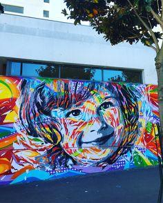 Street art rue Francoise Dolto Paris 13eme artiste Jadibona ete 2016