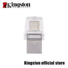 Kingston Mobile usb flash disk USB 3.0 DataTraveler microDuo3C Flash Disk DTDUO3C-16G/32G/64G
