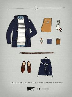 Melhor da Semana: Tumblr Style Illustrated.. Something I would wear on the wettest day of Spring or Summer.