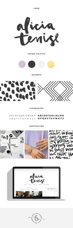 Hand lettered logo and blog design  /  by Heart & Arrow