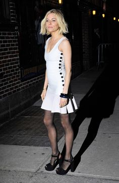 The American Sniper and Foxcatcher actress and Vogue's January cover star treads lightly in the new footwear staple.