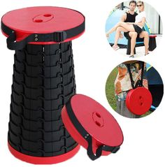 ALEVMOOM Portable Telescoping Stool Folding Camping Stool Seat for Fishing Hiking Traveling Outdoor Activities Telescopic Stool seat for Mountain Beach Pool Travel Retractable Folding Stool Collapsible Stool, Portable Stool, Folding Seat, Folding Stool, Spooning Pillow, Cheap Beach Chairs, Camping Stool, Fishing Chair, Adjustable Stool