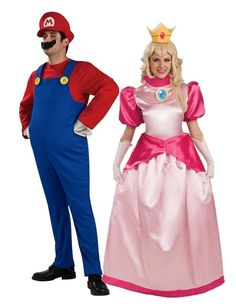 mario and princess peach another great couple halloween costume modest and appropriate for work - Modest Womens Halloween Costumes