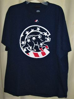 FREE U.S. Shipping! Majestic Cooperstown Collection  Chicago Cubs Shirt Adult XL #Majestic #GraphicTee