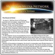 MormonMedia Network.com -- The Church of Christ