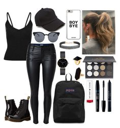 """""""Slay"""" by anjolea on Polyvore featuring Dr. Martens, Quay, Shany, Christian Dior, rag & bone, JanSport, Humble Chic, Jaeger, Myku and Kenneth Jay Lane"""