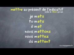 This is a video showing mettre verb.fr - YouTube