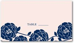 Signature White Place Cards Radiant Ranunculus - Front : Navy 150 @ $118 PLACE CARDS