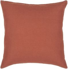 Textured Contemporary Cotton Pillow - Rust