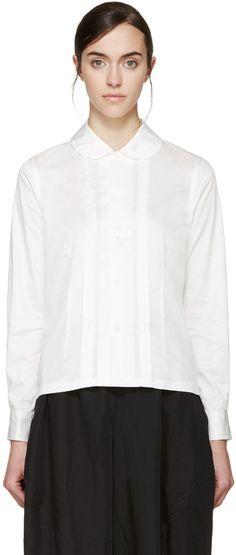Comme des Garçons Comme des Garçons - White Pleated Shirt