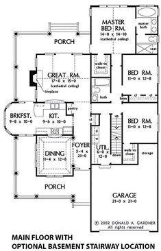 Country Style House Plan - 3 Beds 2 Baths 1700 Sq/Ft Plan #929-43 - Eplans.com