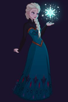 Elsa and her beautiful icy snowflake Frozen Movie, Disney Frozen Elsa, Disney Princess Art, Disney Fan Art, Disney Anime Style, Frozen Fan Art, Disney Kunst, Frozen Wallpaper, Desenhos Gravity Falls