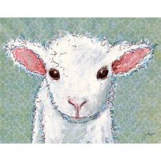 Oopsy Daisy - Little Lamb Baby Canvas Wall Art 14x10, Jennifer Stables