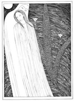 'Come Lovely and Soothing Death', Hannah Frank (1949) Pen and ink 45 cm x 32 cm. Private Collection, Glasgow. Available for sale signed.