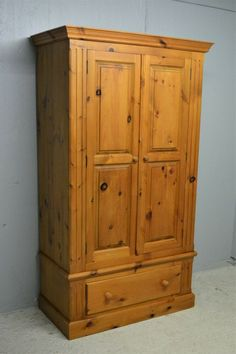 Wardrobe with Drawer Solid Pine Vintage Quality Made Clean Delivery Available