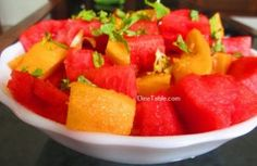 Watermelon Mango Salad Recipe / Quick Salad