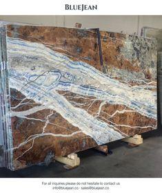 Blue Jean slabs | #bluejeanmarble #marble #slabs #marbleslabs #marmi #marmo #luxurystone #tiles #interior #antolini #bluejeansmarble