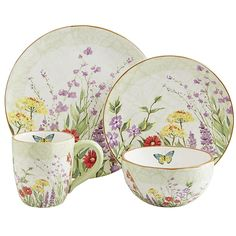 This Botanical Garden Dinnerware from Pier 1 looks fresh enough to attract butterflies.Found at Pier 1 /Db
