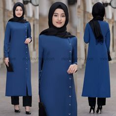 Image may contain: 2 people, people standing and text Modern Hijab Fashion, Muslim Women Fashion, Islamic Fashion, Abaya Fashion, Modest Fashion, Fashion Outfits, Hijab Style Dress, Casual Hijab Outfit, Hijab Chic