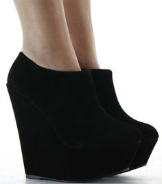Trends For > Black Wedges Shoes With Spikes