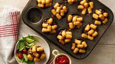 Muffin-Tin Tater Tot Hot Dish Cups