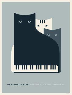Ben Folds Five poster design by Jason Munn