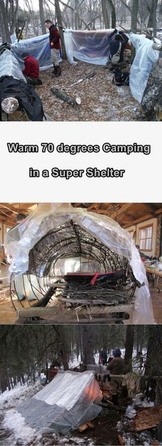 Stay warm while camping in the winter with this super shelter. The super shelter was invented by Mors Kojanski. He was a Canadian veteran and he was well k