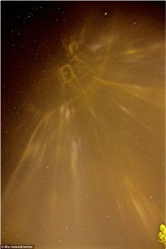 01/16/2016 - Is this a glowing map in the sky over Finland? Photographer claims microscopic ice crystals in the sky reflect lights on the ground in bizarre phenomenon