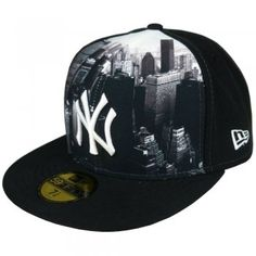 New Era Logo Vista New York Yankees 59Fifty Fitted Flat Peak Cap Gorras  Trucker d423af57f68e