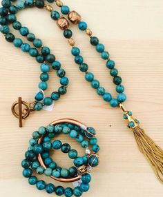 Turquoise n Tassels!  7th Avenue Turquoise by Roxy