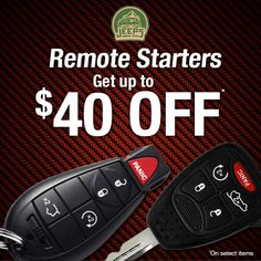 Remote starters, key fobs, installation kits & more on sale now! Save anywhere from $4-$40 on our entire product line.  Start shopping: JustForJeeps.com/jeep-remote-starters.html