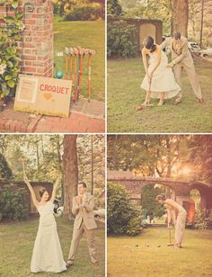 love the idea of croquet at a wedding...or rehearsal cookout or engagement party or something :)