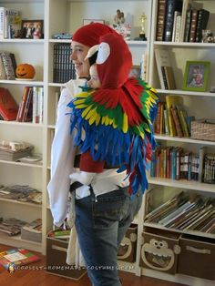 Babywearing Pirate and Parrot Costume.