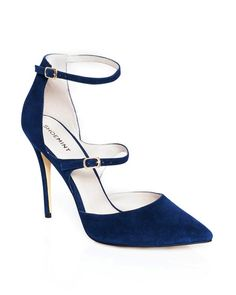 The Leitha - Reminiscent of ladylike Mary Jane styles, this pump is given a glam boost with two strap styling, a pointed toe and metallic accents.