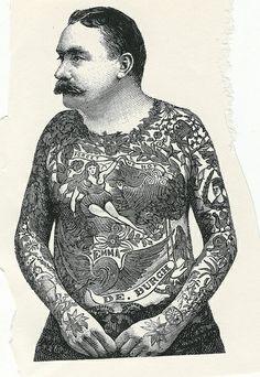 Vintage Flash, Vintage Circus, Vintage Pictures, Vintage Images, Criminal Tattoo, Vintage Style Tattoos, Old Tattoos, Tatoos, Tattoo People