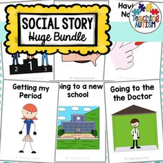 This is a collection of over 80 different social stories that are perfect for visual learners, special education, autism students etc. The stories are a great, visual way to explain different activities, life skills and situations to students while helping to promote independence.