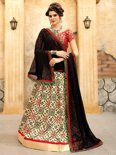 Real magnificence will come out of your dressing trend with this multi colour art silk lehenga choli. Beautified with print work all synchronized properly with all the pattern and style and design of . New Lehenga Choli, Indian Lehenga, Sabyasachi, Anarkali, Pakistani, Lehenga Choli Online, Indian Ethnic Wear, Bollywood Fashion, Bollywood Style