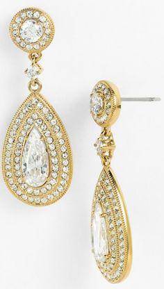 Sparkle drop earrings by Nadri