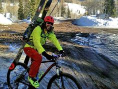 Weekends are not days off. Biking and skiing up Buffalo Pass near Steamboat Springs Colorado.