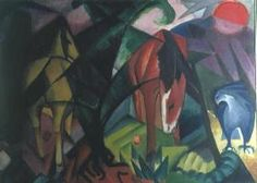 Franz Marc - Horse and Eagle, 1912 (oil on canvas)