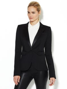 RACHEL ZOE - Antibest Wool Blazer with Satin Lapel