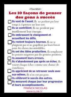 Les 10 façons de penser des gens à succès